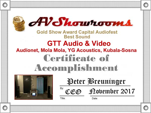 AV Showrooms Capital AudiofestF 2017 AUDIONET