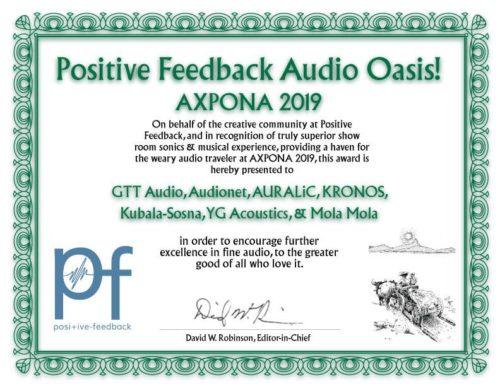 positive feedback Auszeichnung Audionet