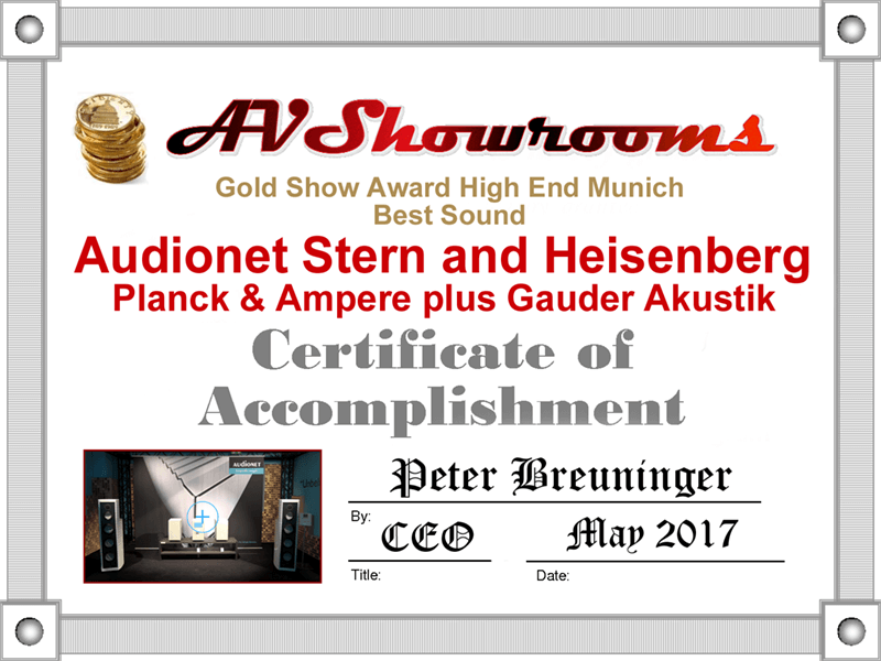 AV Showrooms HIGH END Munich 2017 STERN HEISENBERG