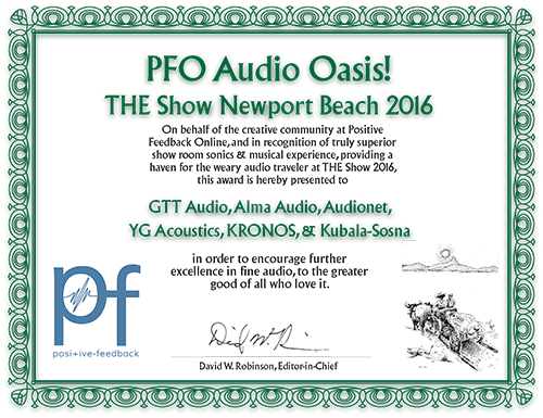 2016 pfo Audio Oasis The Show 2016
