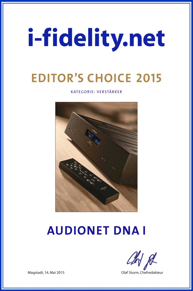 Audionet DNA I ifidelity editors choice 2015